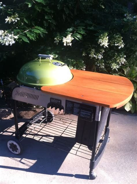 weber crate barrel performer wooden table mod grill