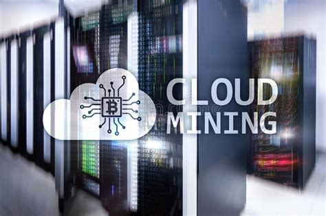 bitcoin cloud mining center bitcoin cryptocurrency and blockchain technology concept
