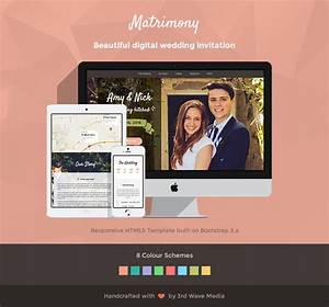 Responsive wedding invitation template matrimony for Wedding invitation templates bootstrap