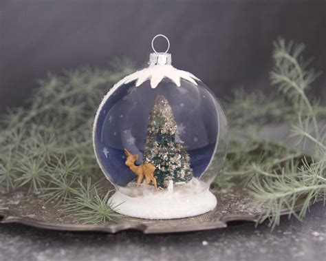 tutorial christmas snow globe ornament globe ornament
