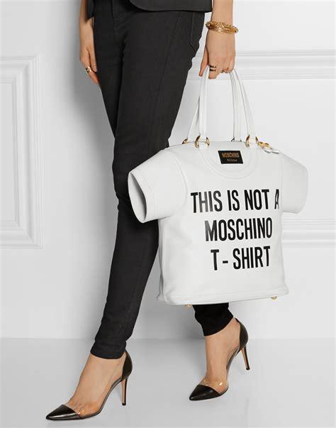 moschino tshirt would you carry this moschino bag purseblog