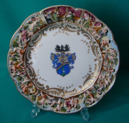 capodimonte porcelain cabinet plate
