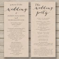 rustic wedding fan programs wedding program templates program template and wedding