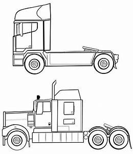 Image Result For Semi Truck Outline Drawing Side Profile