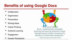 Minnetesol 2013 presentation facilitate collaboration for Google documents benefits