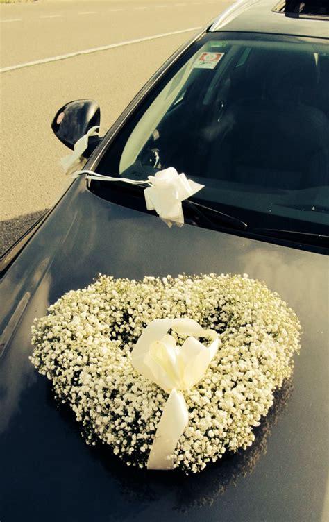 car flowers wedding car gypsophila flower decoration