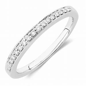 wedding band with 015 carat tw of diamonds in 18ct white gold With 15 carat wedding ring