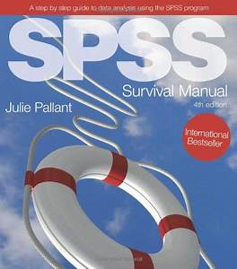 Spss Survival Manual By Julie Pallant
