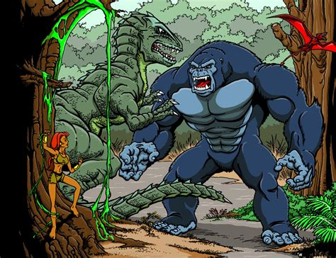 King Hamdo From The 1999 Anime Series Now And Then Here There Anyone Who Has Seen Knows That This Is Not A Kong Animated Series By Kaijuverse On Deviantart