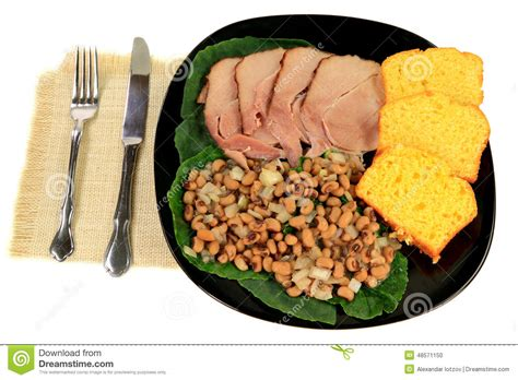 new years day lunch served american south tradition new years day meal stock photo image 48571150