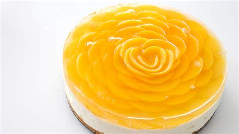 pankobunny peach rose cheesecake