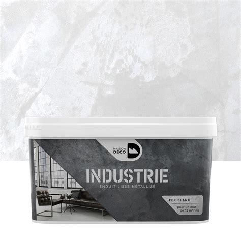 peinture 224 effet industrie maison deco fer blanc 4 kg leroy merlin