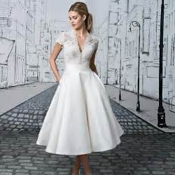 bridesmaids invite tea length wedding dresses the prettiest designs for