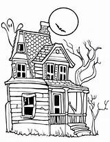 Coloring Scary sketch template