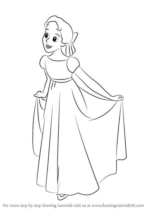 Learn How to Draw Wendy Darling from Peter Pan (Peter Pan