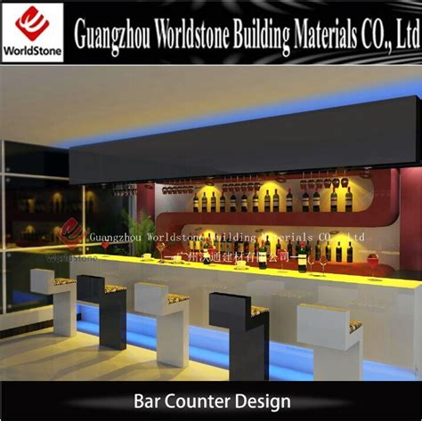 bar counter materials nail salon furniture artifical marble stone led bar counter table for hotel view led bar