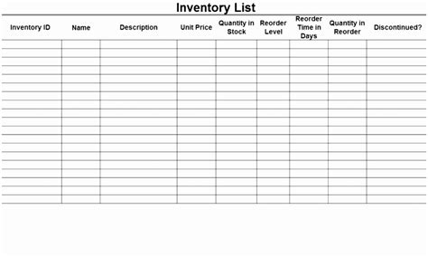 stock  inventory control spreadsheet template excel