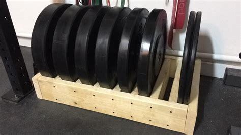 diy plate storage homegym