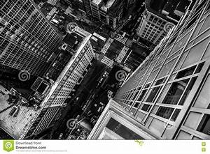 Top View From The Skyscraper To City Street In Manhattan ...
