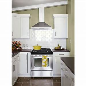 Shop american olean starting line white gloss ceramic wall for Kitchen cabinets lowes with clay wall art