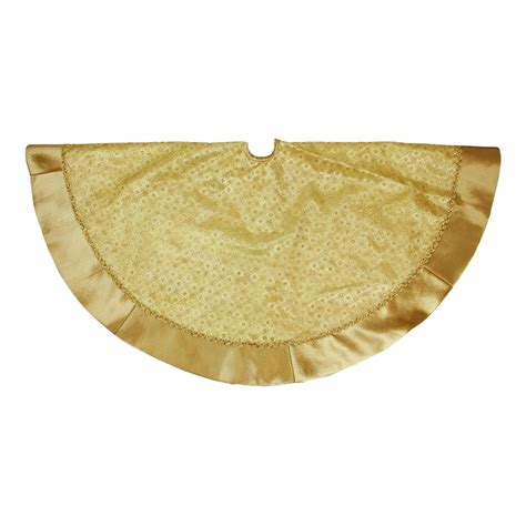 shop northlight 48 in gold polyester glitter christmas