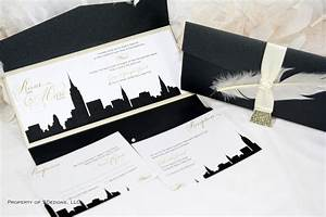 new york skyline wedding invitation city empire state With wedding invitations cheap nyc