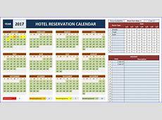 Room Booking Calendar for Excel Excelindo
