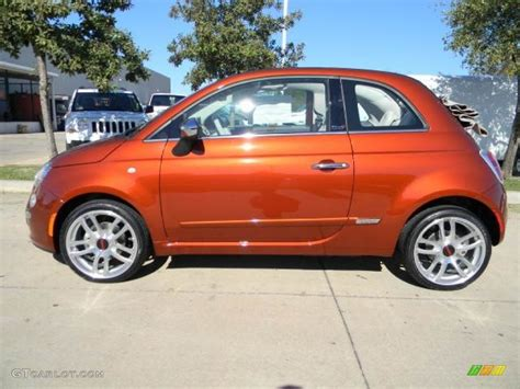 Fiat 500 Orange by Rame Copper Orange 2012 Fiat 500 C Cabrio Lounge