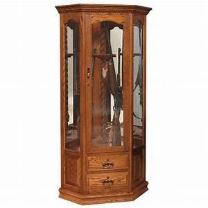 Swivel Corner Gun Cabinet - Amish Crafted Furniture