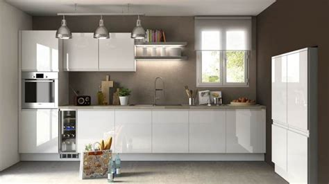 modele cuisine blanc laqué ophrey com modele cuisine laque blanc prélèvement d