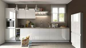 Meuble De Cuisine Blanc Laqué : cuisine ikea ringhult blanc brillant zf42 jornalagora ~ Teatrodelosmanantiales.com Idées de Décoration
