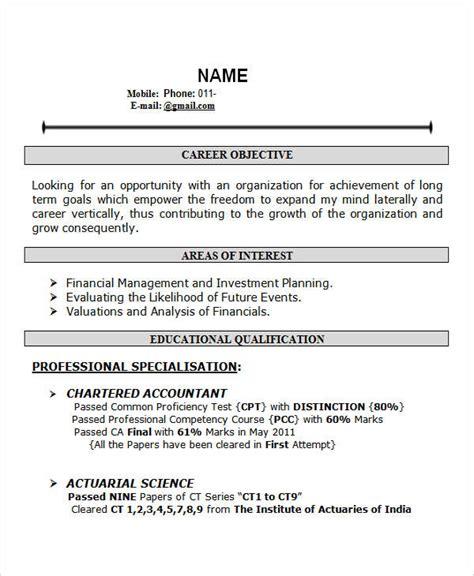 28 free fresher resume templates free premium templates