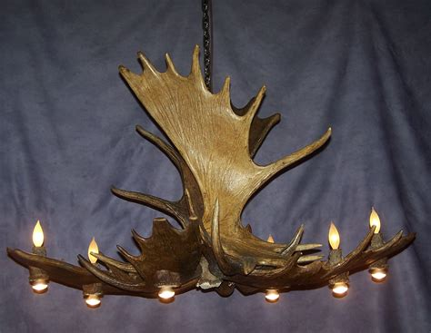 lamp deer horn chandelier  authentic