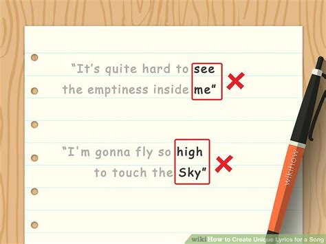 We are here to help you every step of the way! How to Create Unique Lyrics for a Song (with Pictures) - wikiHow