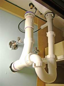 Bathroom Sink Drain Plumbing Air Vent P Trap And Pop Up