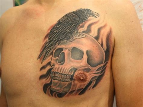 cool chest tattoos  men inspirationseekcom
