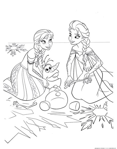 frozen coloring pages animated film characters elsa anna print