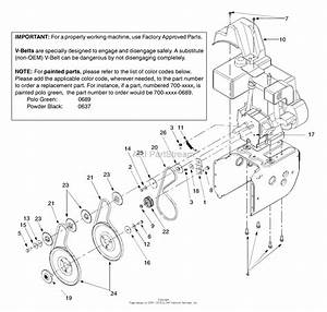 Mtd 31ae558g099  247 888530   2003  Parts Diagram For Belt Drive System