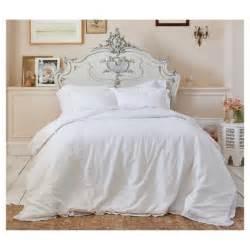 shabby chic bedding outlet white crochet trim linen blend comforter set full queen