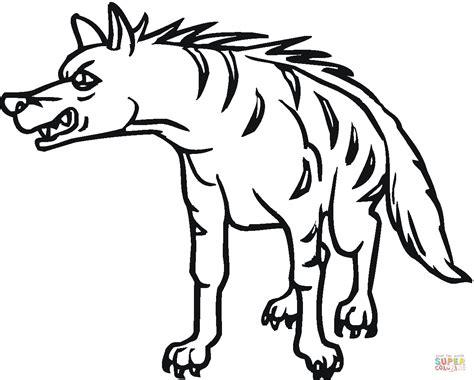 Striped Hyena 11 Coloring Page