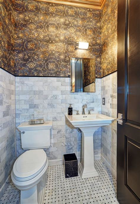 dazzling kohler pedestal sink  powder room traditional