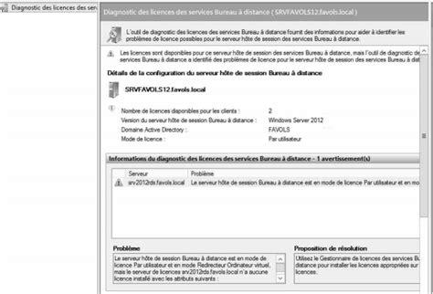 bureau des licences serveur rds 2012 problème d accès limité à 2 sessions