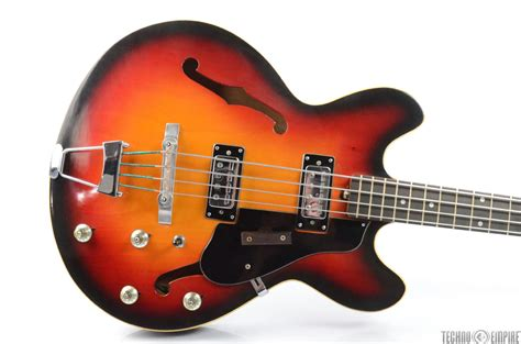 Made In Japan Japanese Hollow Body Electric Bass Guitar W