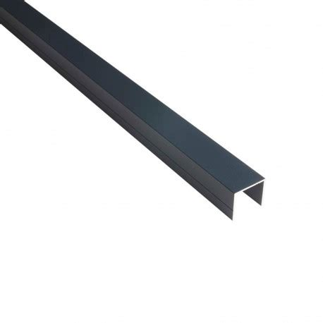 profil en u 28mm palissade bois composite aluminium ideal deck linea