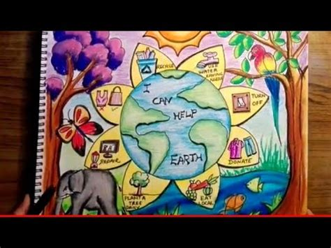 world environment day drawing save earth save planet