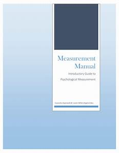 Pdf  Measurement Manual  Introductory Guide To