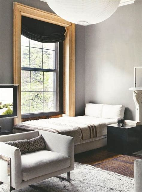 grey walls with wood trim living room ideas