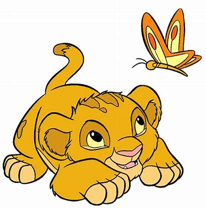Lion Simba King Clip Disney Butterfly Characters