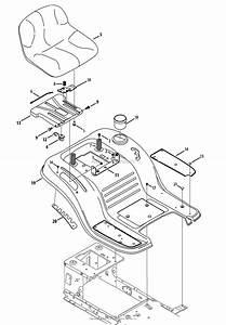 Mtd 13bj78ss099  247 288843   Lt2000   2013  Parts Diagram For Seat  U0026 Fender