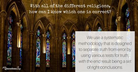 With All Of The Different Religions How Can I Know Which